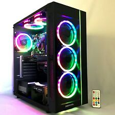 Gaming PC Desktop Computer Intel i5 16G,2T,Win10,WIFI,GTX 1060 3GB,6 RGB Fan,VR
