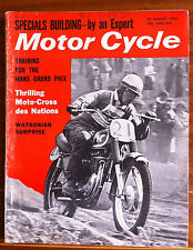 Motor Cycle du 30/08/1962; Thrilling moto-cross des nations/ Manx GP/ Watsonian