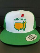 THE MASTERS GOLF AUGUSTA PGA TOURNAMENT HAT GREEN LOGO TRUCKER ADJUSTABLE NEW
