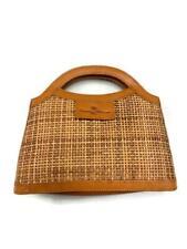 Tommy Bahama Woven Natural Straw Handbag Purse Clutch