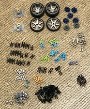Mixed 140 pc Knex Lot K'nex Replacement Parts Pieces Lot-+ Wheels See Pictures