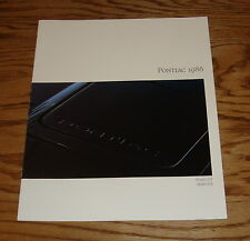 Original 1986 Pontiac Fiero Brochure GT 6000 S/E Sales Brochure 86
