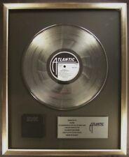 AC/DC Back In Black LP Platinum Non RIAA Record Award Atlantic Records To AC/DC