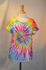 Tie Dye Short Sleeve Personalised T-Shirts for Women