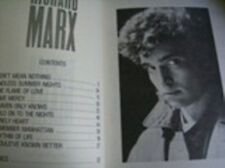 Richard Marx Music Book + Poster, Piano/Vocal Paperback