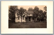 Postcard RPPC c1904-1918 United States Old House Swing