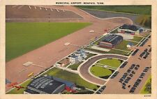 Postcard TN Memphis Municipal Airport Vintage Tennessee Posted 1941 PC