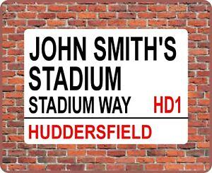 JOHN SMITH'S STADIUM HUDDERSFIELD london street sign MOUSE MAT town football pad