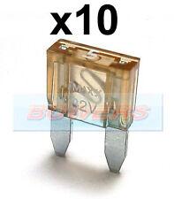 PACK OF 10 12V 24V VOLT 5A AMP BEIGE MINI BLADE FUSES KIT CAR VAN MARINE
