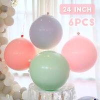 "6Pcs 24"" Latex Balloons Circular Birthday Wedding Birthday Baby Shower Party"