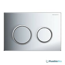 GEBERIT OMEGA 20 DUAL FLUSH ACTUATOR PUSH PLATE GLOSS CHROME 115.085.KH.1