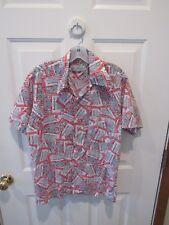Vtg 1970's Budweiser Logo Pattern Shirt men medium 15-15.5 K Mart Necktie Lot
