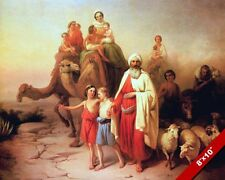 ABRAHAMS JOURNEY FROM UR TO CANAAN PAINTING OLD TESTAMENT BIBLE ART CANVAS PRINT