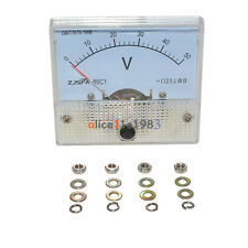 DC 50V Analog Panel Volt Voltage Meter Voltmeter Gauge 85C1 White 0-50V DC