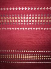 Bead Print Red Fabric Upholstery