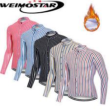 New Men Cycling Jersey Long Sleeve Winter Bike Fleece Clothing Bicycle Shirt Top