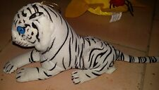 TIGRE BIANCA PELUCHE - 40Cm. - Tiger White Plush Leone Lion Cat Dog Owl Dragon