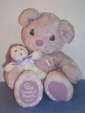 Precious Moments - Plush Bear/ Dog/Charm Cheerful Giver Premier Ed. 1999 - Euc