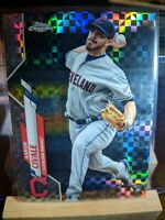Aaron Civale Cleveland Indians 2020 Topps Chrome X-Fractor Rookie Card RC #143