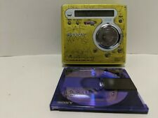 Sony Portable Minidisc Recorder Mz-R700 Md Walkman - Green/Yellow - Tested Works