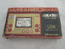 Nintendo Game & Watch Gold Series Lion (LN-08) Boxed - 1981 with box and manual