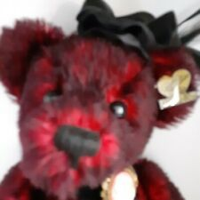 """Annette Funicello Bear Co. """"Miss Kitty"""" New With Papers Rich Red mohair"""