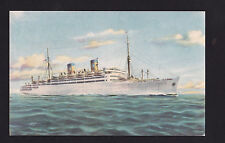 vintage Home Lines MS Italia ship Italy postcard