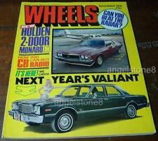 1976.WHEELS.MONARO LE V8.ZH Fairlane 500 MARQUIS.Porsche 911.WELTRON GEC 2007 Ad