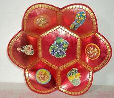 Flores de fruta Bowl tazón de fuente-la placa artesanía-DDR Plástico
