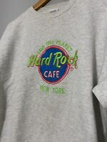 Vintage 90s Hard Rock Cafe Save The Planet New York Neon Logo Size Large