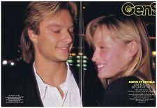 COUPURE DE PRESSE CLIPPING 1989 David Hallyday et Estelle Lefebure (4 pages)