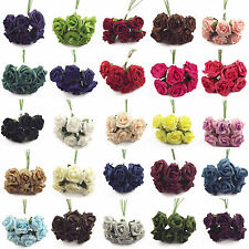 Wholesale Clearance!  20 Bunches 120 Artificial Foam Roses Flowers Bulk Job Lot