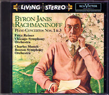 Byron JANIS: RACHMANINOV Piano Concerto 1 & 3 RCA LIVING STEREO CD Reiner Munch