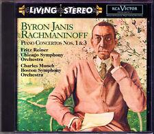 Byron Janis: rachmaninov piano concerto 1 & 3 RCA LIVING STEREO CD pur Munch