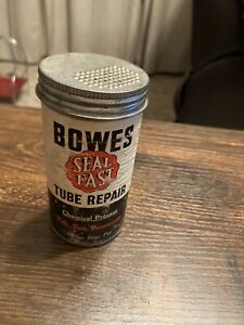 Vintage BOWES SEAL FAST Tube Repair Tire Patch Repair Tin Cardboard Container