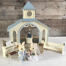 Sylvanian Families Blue Wedding Chapel w/ Bride & Groom 100% Complete with Box