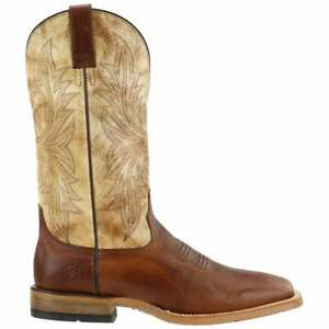 Ariat Cowhand Tarnished Alabaster Square Toe   Mens  Boots   Mid Calf  - Red -