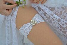 Wedding Keepsake Garter - wedding garter Crystal Rhinestone-WHITE or IVORY  lace