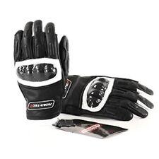Gants noirs poignet en cuir pour motocyclette