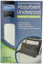WATERPROOF WASHABLE UNDERPAD BED PROTECTOR Absorbent DryTouch 30x34""
