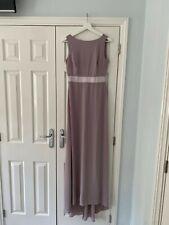Unworn Grey/Lavender Maxi Bridesmaid Dress (size 8)