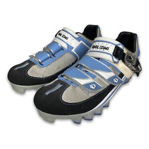 Pearl Izumi Womens Attack MTB Mountain Bike Cycling Shoes Blue Size 39.5 US 7.5