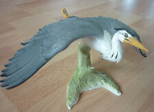 Goeber Fischreiher Reiher, Grey Heron, Heron cendre´, Porzellan