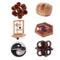 6 piezas niños inteligencia de madera Toy Kong Ming Lock juego de