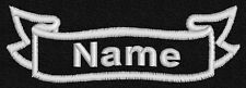 Personalised embroidered name, patch, emblem, badge,biker,  ribbon, 90mm x 30mm
