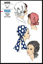 HEADWRAP DRAPED Hat FASCINATOR CHEMO CANCER Hijab VOGUE 6410 Fabric Pattern