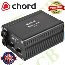 More details for chord di-a1 active direct injection box phantom powered converter for instrument