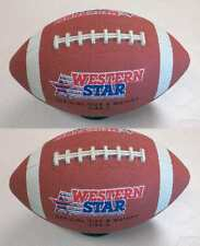 "(2 Pcs Bundle) Official Size and weight  #9  Brown Rubber Football ""Free Ship"""