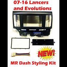 07-16 MITSUBISHI LANCER CAR STEREO DASH TRIM KIT Evo X Evolution MR GSR