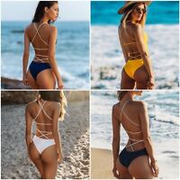 Women Sexy One-Piece Swimsuit Beachwear Backless Push-up Monokini Swimwear S-XXL